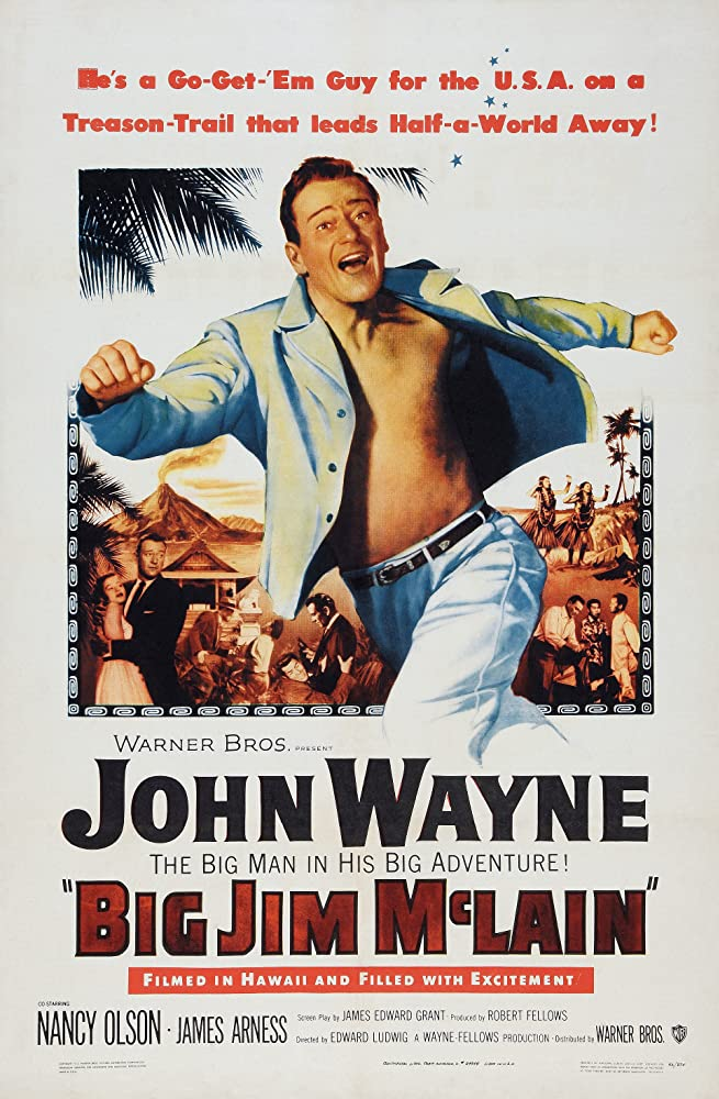John Wayne and Nancy Olson in Big Jim McLain (1952)