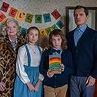 Debra Mooney, John Emmet Tracy, Nicholas Holmes, and Ava Sleeth in Off with Her Head (2020)