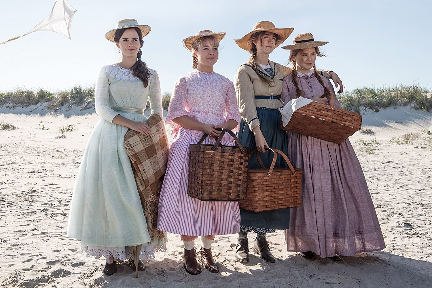 Emma Watson, Saoirse Ronan, Florence Pugh, and Eliza Scanlen in Little Women (2019)