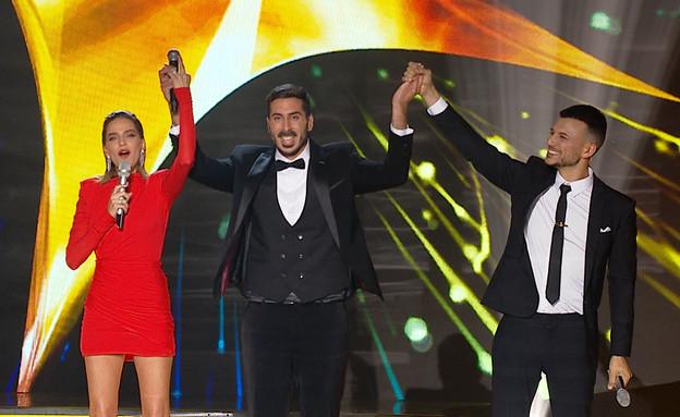 Kobi Marimi, Assi Azar, and Rotem Sela in HaKochav HaBa (2013)