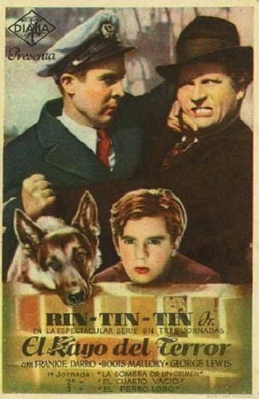 Frankie Darro, Fred Kohler, George J. Lewis, and Rin Tin Tin Jr. in The Wolf Dog (1933)