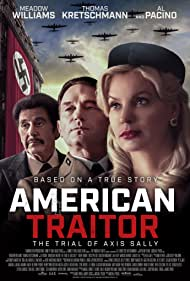 Al Pacino, Thomas Kretschmann, and Meadow Williams in American Traitor: The Trial of Axis Sally (2021)