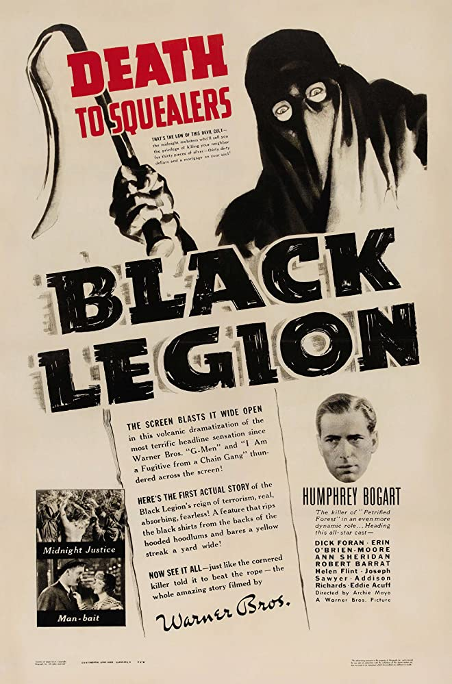 Humphrey Bogart in Black Legion (1937)