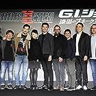 Robert Schwentke, Kenji Tanigaki, Erik Howsam, Haruka Abe, Takehiro Hira, Iko Uwais, Andrew Koji, Christopher Jue, and Henry Golding in Snake Eyes: G.I. Joe Origins (2021)