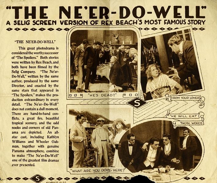 Frank Clark, Harry Lonsdale, Jack McDonald, Norma Nichols, Wheeler Oakman, Sidney Smith, and Kathlyn Williams in The Ne'er Do Well (1915)