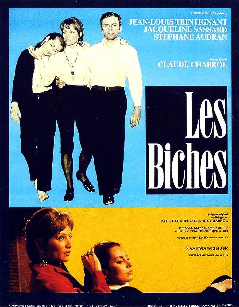 Stéphane Audran, Jean-Louis Trintignant, and Jacqueline Sassard in Les biches (1968)