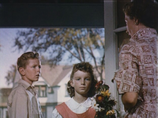 Fay Baker, Jimmy Hunt, and Janine Perreau in Invaders from Mars (1953)