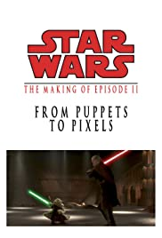 From Puppets to Pixels: Digital Characters in 'Episode II' Poster