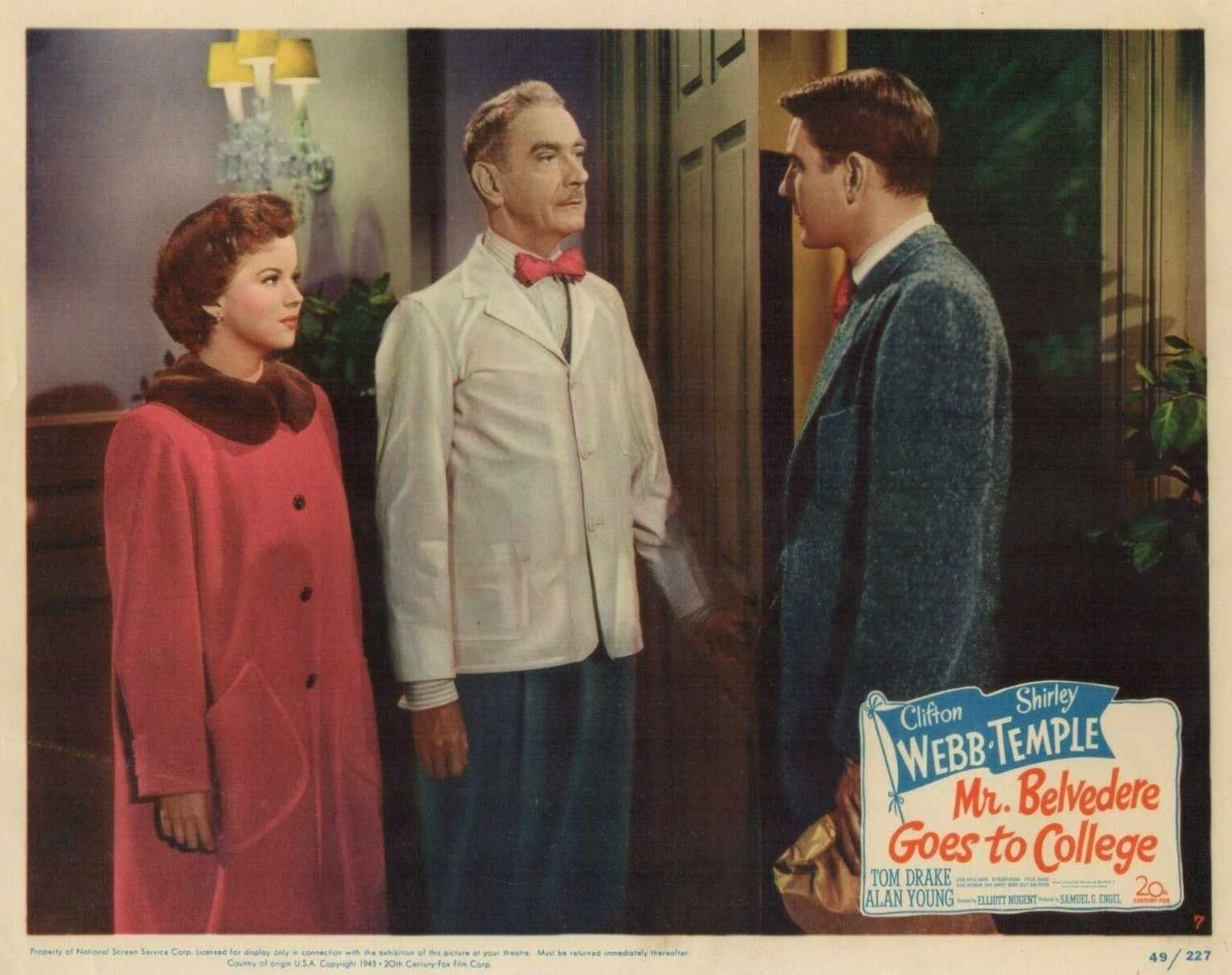 Shirley Temple, Tom Drake, and Clifton Webb in Mr. Belvedere Goes to College (1949)