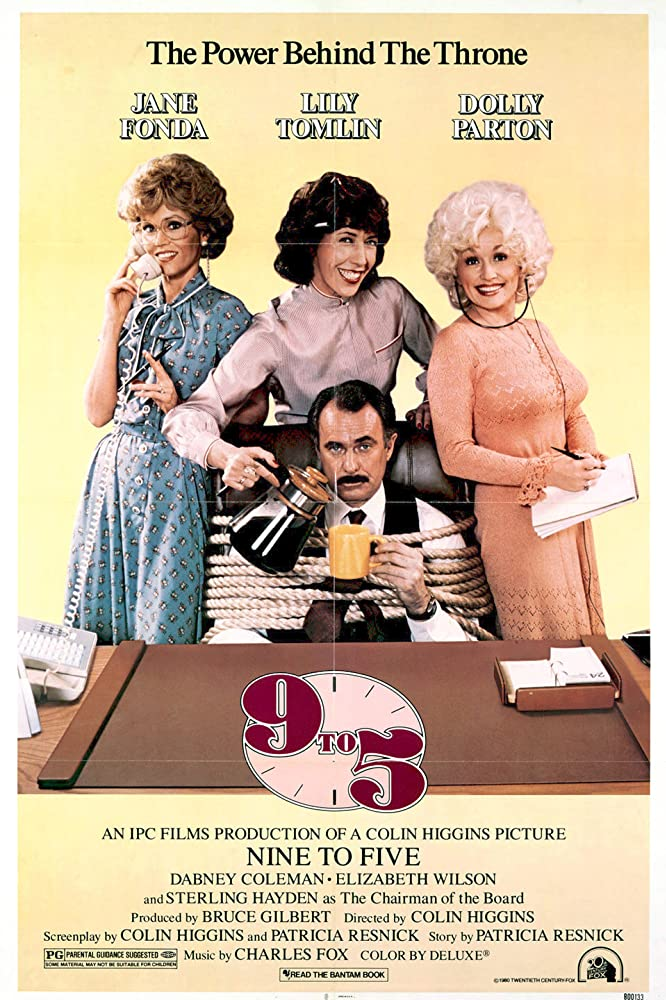 Jane Fonda, Dolly Parton, Dabney Coleman, and Lily Tomlin in Nine to Five (1980)