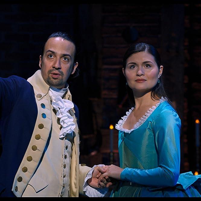 Lin-Manuel Miranda and Phillipa Soo in Hamilton (2020)