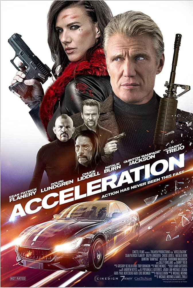Dolph Lundgren, Sean Patrick Flanery, Danny Trejo, Chuck Liddell, and Natalie Burn in Acceleration (2019)