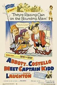 Charles Laughton, Bud Abbott, Hillary Brooke, Lou Costello, and Fran Warren in Abbott and Costello Meet Captain Kidd (1952)