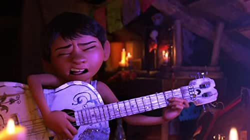 Despite his family's baffling generations-old ban on music, Miguel dreams of becoming an accomplished musician like his idol, Ernesto de la Cruz. Desperate to prove his talent, Miguel finds himself in the stunning and colorful Land of the Dead following a mysterious chain of events. Along the way, he meets charming trickster Hector, and together, they set off on an extraordinary journey to unlock the real story behind Miguel's family history.