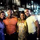 Vivica A. Fox, Jamie Foxx, and Tommy Davidson at an event for Booty Call (1997)