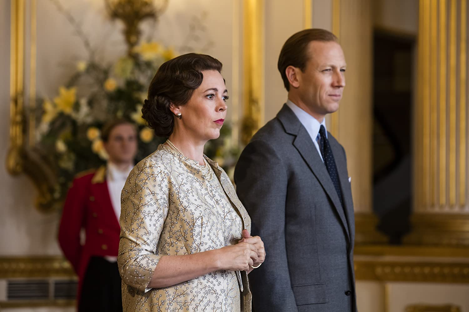 Tobias Menzies and Olivia Colman in The Crown (2016)