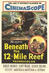 Robert Wagner and Terry Moore in Beneath the 12-Mile Reef (1953)