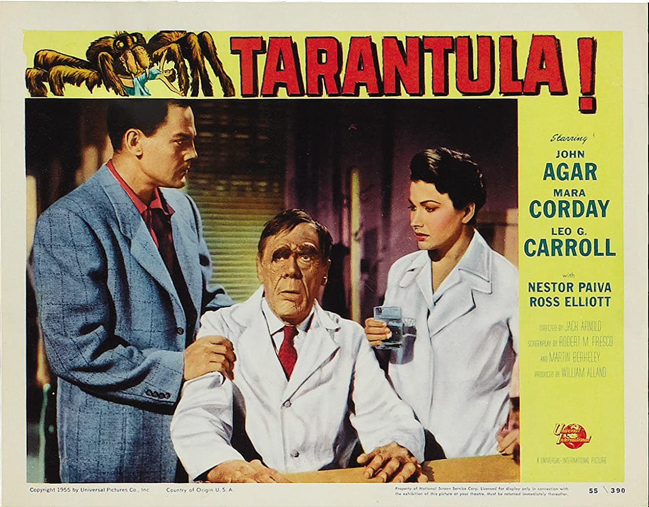 John Agar, Leo G. Carroll, and Mara Corday in Tarantula (1955)