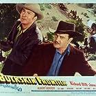 Albert Dekker and Richard Dix in Buckskin Frontier (1943)