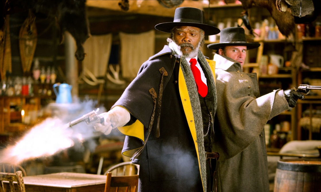 Samuel L. Jackson and Walton Goggins in The Hateful Eight (2015)