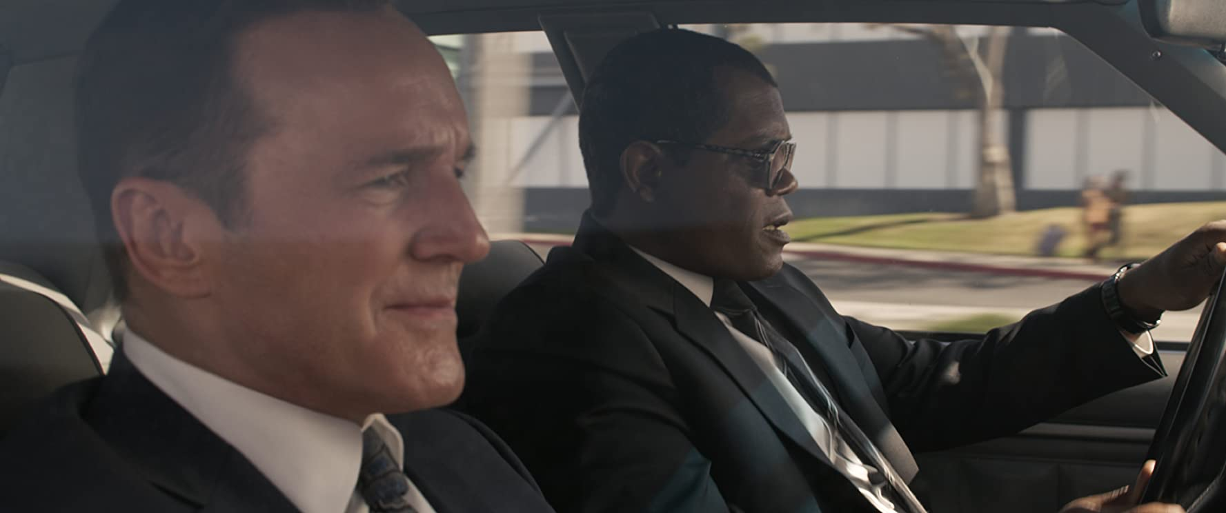 Samuel L. Jackson and Clark Gregg in Captain Marvel (2019)