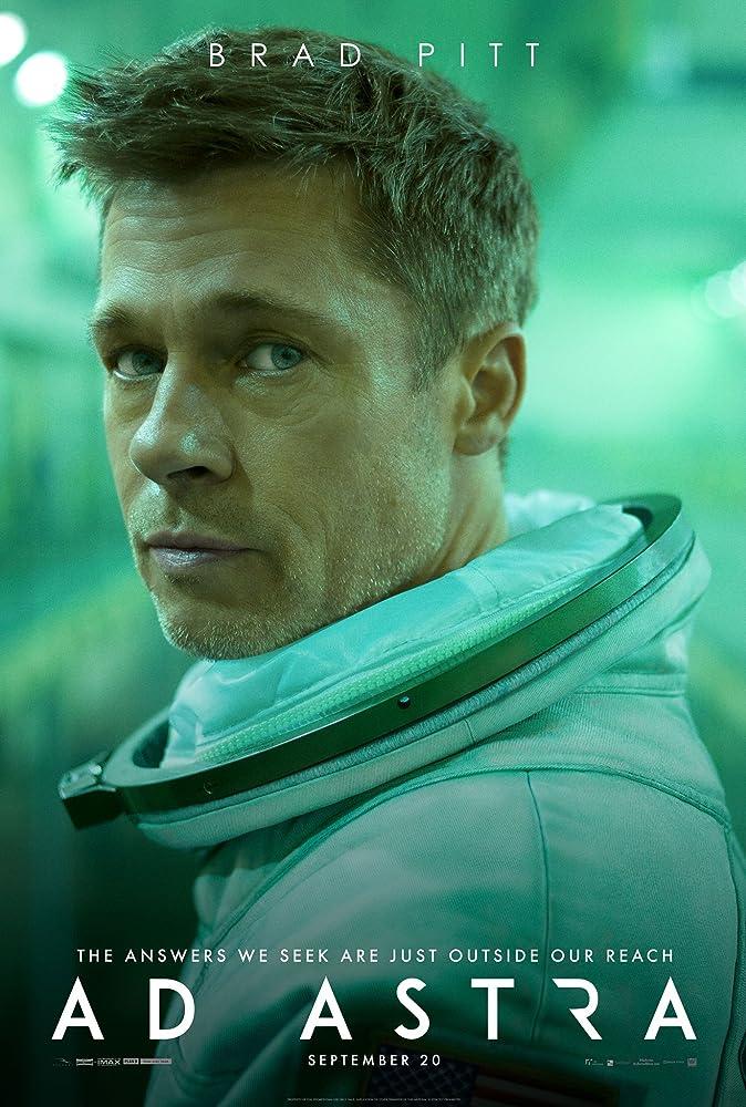 Brad Pitt dalam poster film Ad Astra.