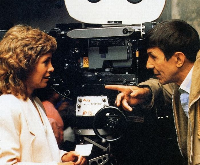 Leonard Nimoy and Catherine Hicks in Star Trek IV: The Voyage Home (1986)