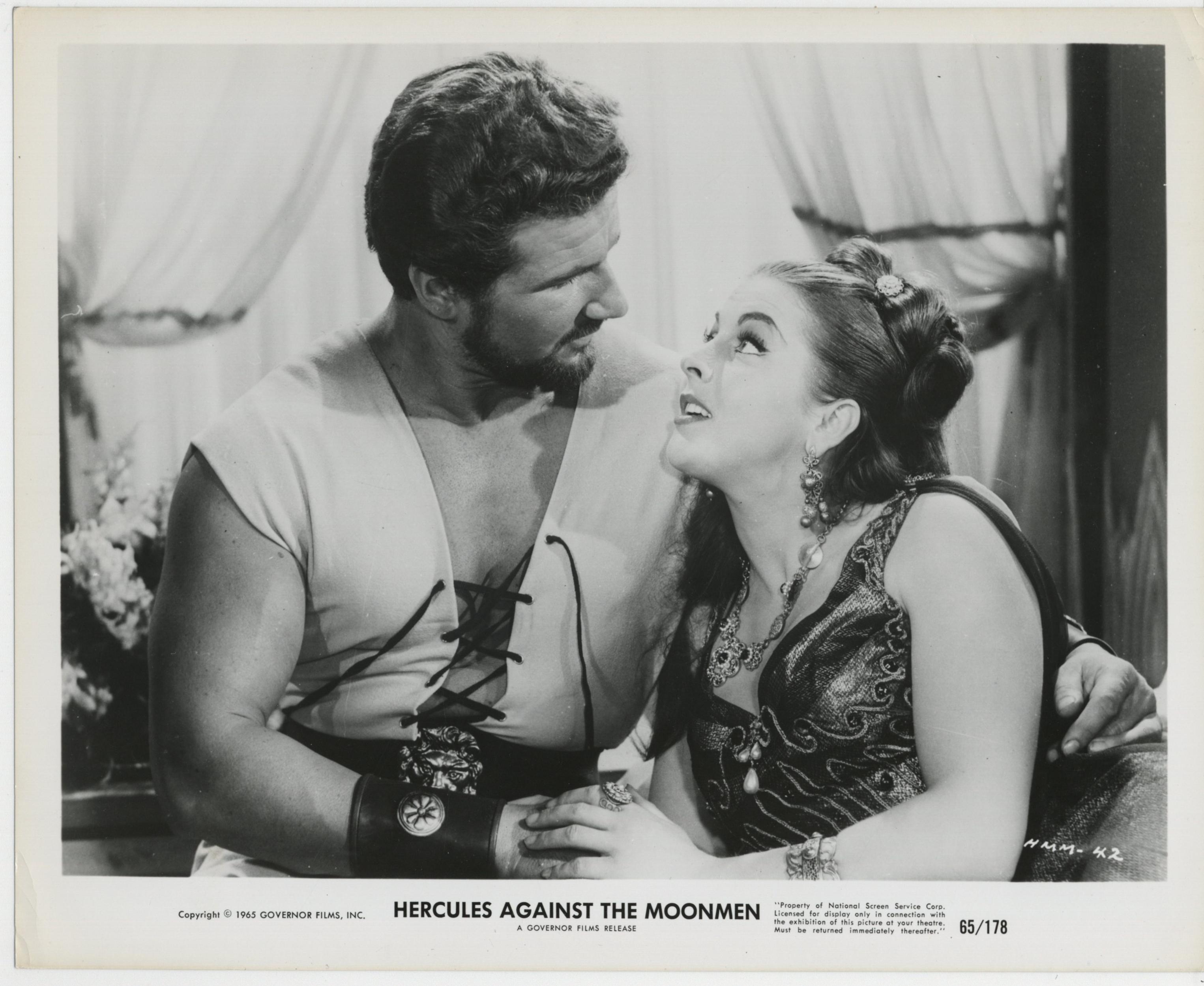 Jany Clair and Sergio Ciani in Maciste e la regina di Samar (1964)