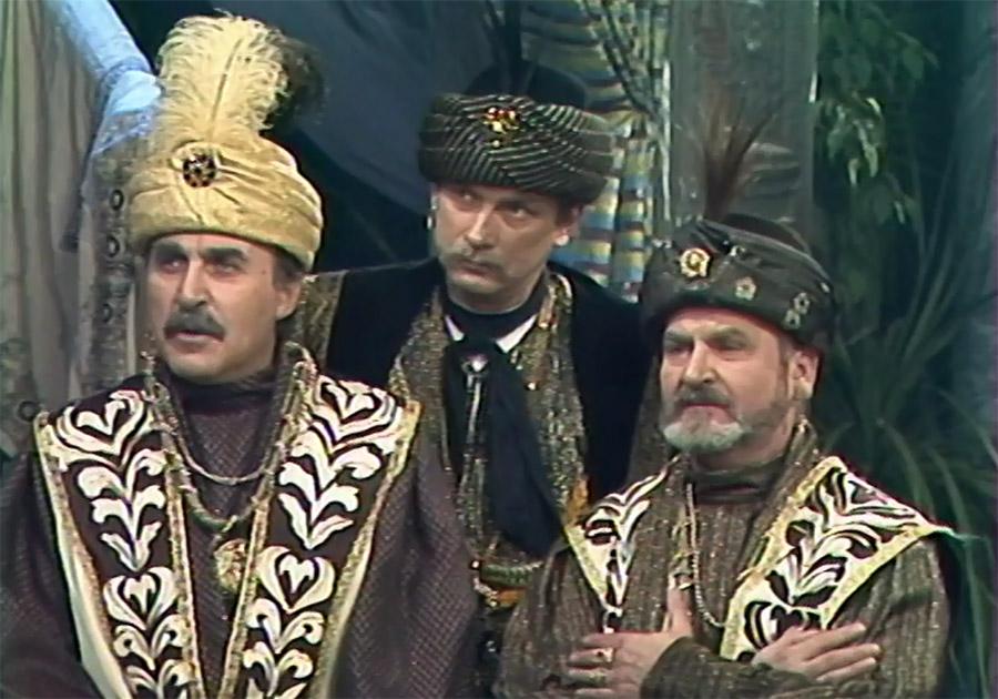 Milan Vágner, Jaromír Rostinský, and Leopold Franc in Nasredin (1984)
