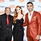 Ismael Kanater, Jessica Chastain, and Mourad Zaoui at an event for The Forgiven (2021)