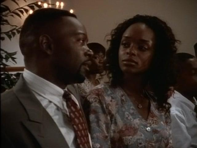 Michael Burgess and N'Bushe Wright in American Gothic (1995)