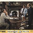 David Niven, Charles Martin Smith, and Herschel Bernardi in No Deposit No Return (1976)