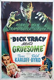 Boris Karloff, Ralph Byrd, Anne Gwynne, and Sean McClory in Dick Tracy Meets Gruesome (1947)