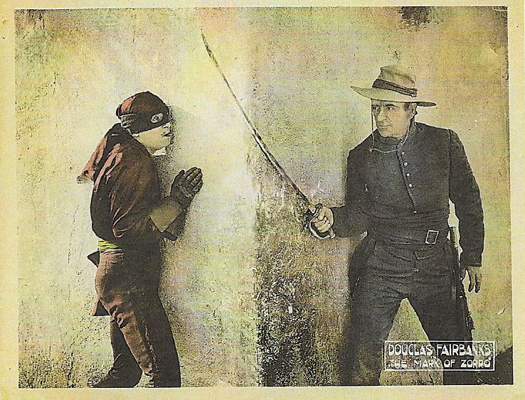 Douglas Fairbanks and Charles Hill Mailes in The Mark of Zorro (1920)