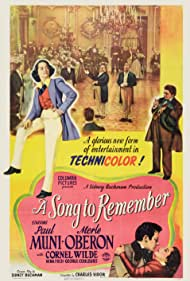 Paul Muni, Merle Oberon, and Cornel Wilde in A Song to Remember (1945)