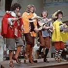 Jean-Guy Fechner, Gérard Filipelli, Gérard Rinaldi, and Jean Sarrus in Les quatre Charlots mousquetaires (1974)