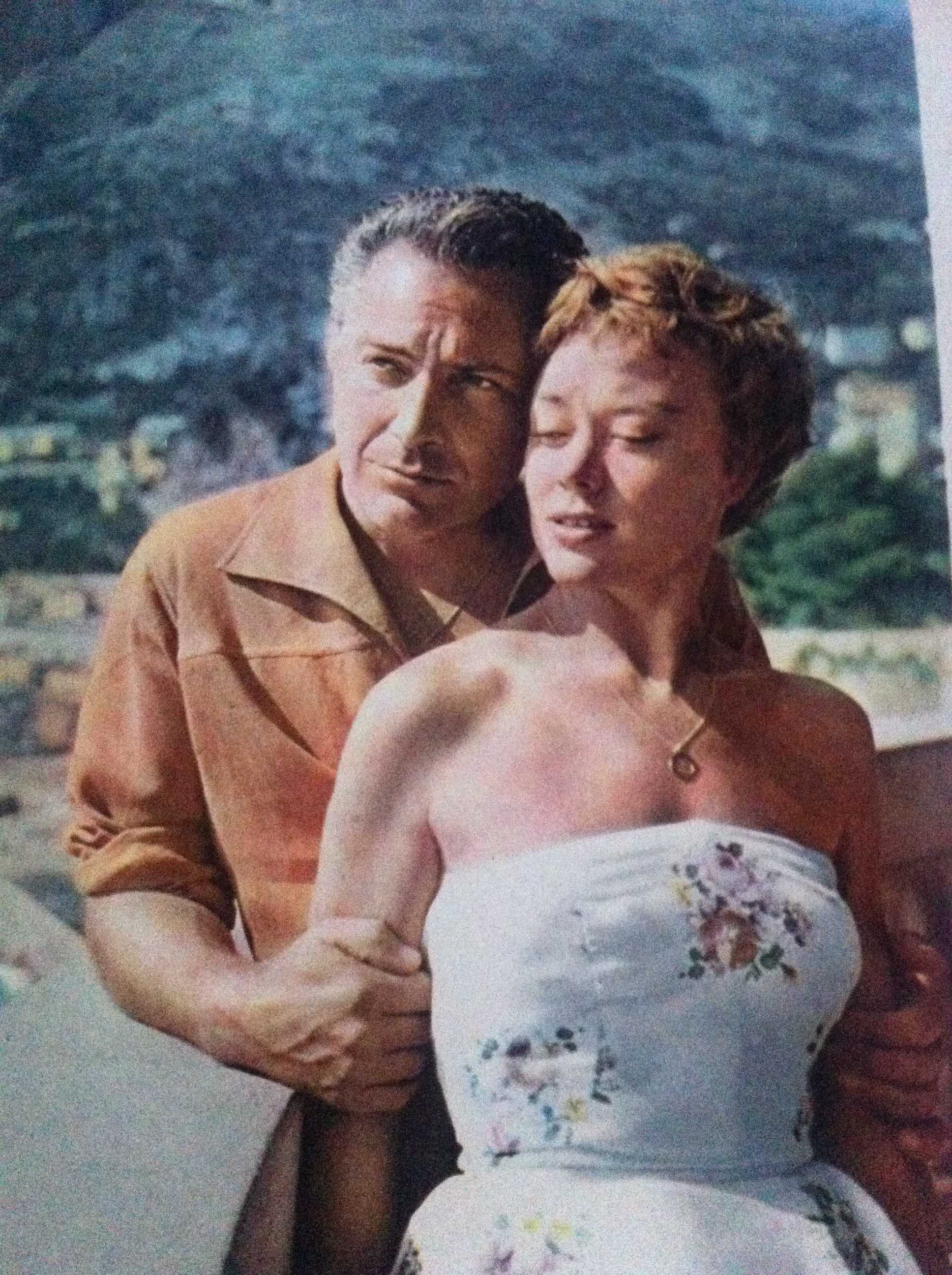 Rossano Brazzi and Glynis Johns in Loser Takes All (1956)
