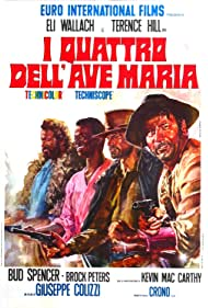 Terence Hill, Brock Peters, Bud Spencer, and Eli Wallach in I quattro dell'Ave Maria (1968)