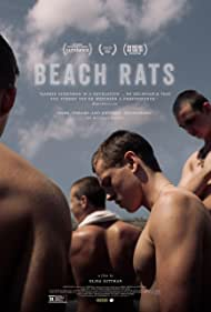 Harris Dickinson, Anton Selyaninov, Frank Hakaj, and David Ivanov in Beach Rats (2017)