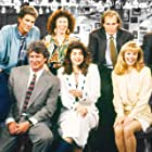 Kirstie Alley, Woody Harrelson, Ted Danson, Kelsey Grammer, Shelley Long, George Wendt, and Rhea Perlman in Cheers (1982)