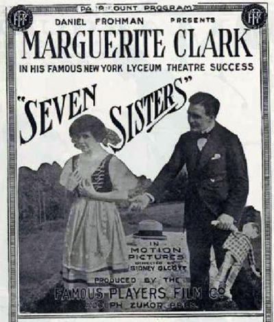 Marguerite Clark and Conway Tearle in The Seven Sisters (1915)