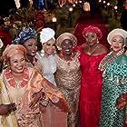 Rachel Oniga, Joke Silva, Linda Ihuoma-Suleiman, Kate Henshaw-Nuttal, Ini Edo, Shaffy Bello, and Falz in Chief Daddy (2018)