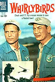 Craig Hill and Kenneth Tobey in Whirlybirds (1957)