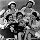 Groucho Marx, Barbara Blaine, Sue Carlton, Anne Dore, Virginia Linden, Jonni Paris, Midge Ware, Chili Williams, and Helen Blizard in A Girl in Every Port (1952)