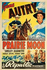Gene Autry, Smiley Burnette, Tom London, Bud Osborne, and Champion in Prairie Moon (1938)