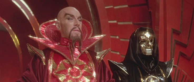 Max von Sydow and Peter Wyngarde in Flash Gordon (1980)
