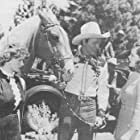 Roy Rogers, Ann Gillis, Ruth Terry, and Trigger in Man from Music Mountain (1943)
