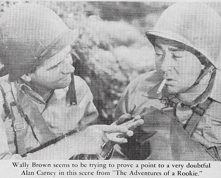 Wally Brown and Alan Carney in The Adventures of a Rookie (1943)