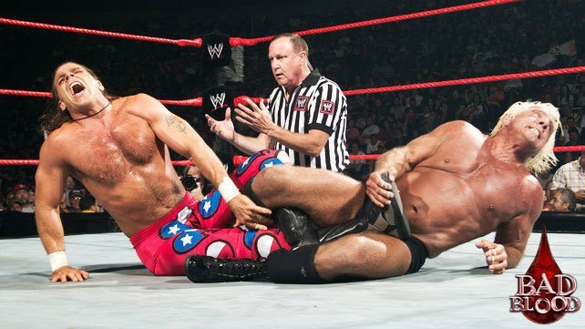 Image result for WWE Bad Blood 2003 Ric Flair vs Shawn Michaels