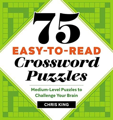 75 Easy-to-Read Crossword Puzzles
